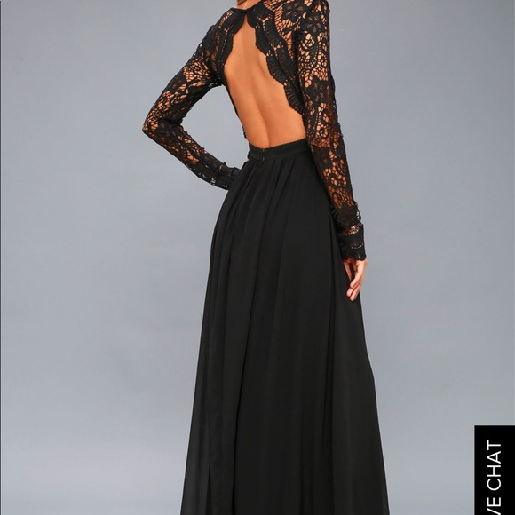 Lulus Dresses Black Lace Prom Dress Poshmark